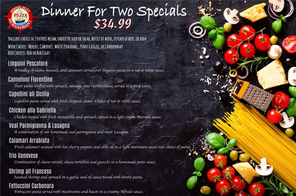 dinner specials for two New Milford